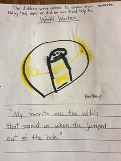 Mermaid Brittany's kindergarten drawing of the witch coming out of the porthole during the Weeki Wachee mermaid show. For details, read the story in the May 4, 2017 edition of the Sumter County Times.