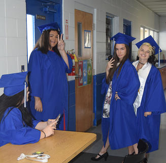 Wildwood graduated their Class of 2017 on Friday, May 26 - the following are images of the students as they waited for their ceremony. For additional photos, see the photo page in the  June 8, 2017 edition of the Sumter County Times.
