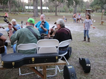 Barking Dogs play at Dade's Christmas on the Florida Frontier
