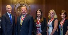 """<div class=""""source""""></div><div class=""""image-desc"""">Sean Downing, Melissa Garcia, Monica Pool and Sandy Waite (starting second from left) are shown with Scott (far left), during the presentation event.  </div><div class=""""buy-pic""""><a href=""""/photo_select/21827"""">Buy this photo</a></div>"""