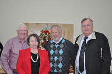 "<div class=""source"">Photo provided</div><div class=""image-desc"">Pictured from left are former sheriff Jamie Adams, Marie Keenum, former sheriff Ernie Johnson and Sheriff Bill Farmer. Keenum was instrumental in the original two-year project to install 911 emergency services for Sumter County. 