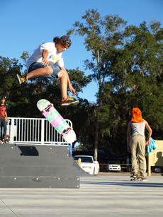 "<div class=""source"">Amanda Mims</div><div class=""image-desc"">Brad Winfree, 15, of Webster, I shown jumping at the skate park at Kenny Dixon Sports Complex in Bushnell.  At right is Robert Brown, 19, of Center Hill.  Andrew Gonzales, 15, of Webster, is shown at left.</div><div class=""buy-pic""><a href=""/photo_select/4760"">Buy this photo</a></div>"
